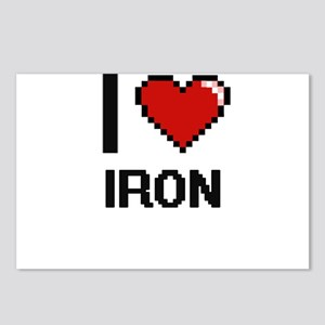 I Love Iron Postcards (Package of 8)