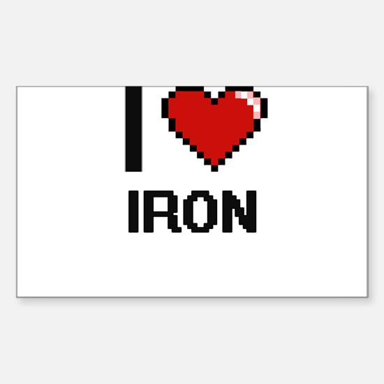 I Love Iron Decal