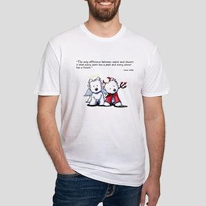 KiniArt Saint & Sinner Fitted T-Shirt