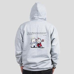 KiniArt Saint & Sinner Zip Hoodie