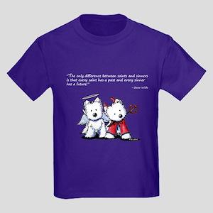 KiniArt Saint & Sinner Kids Dark T-Shirt