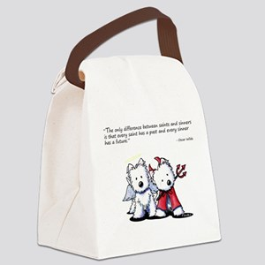 KiniArt Saint & Sinner Canvas Lunch Bag