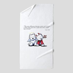 KiniArt Saint & Sinner Beach Towel