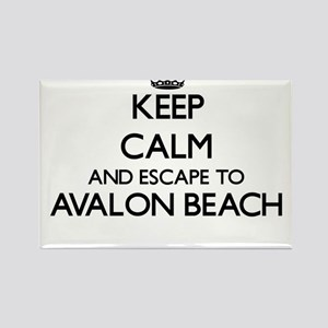 Keep calm and escape to Avalon Beach Calif Magnets