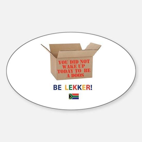 Cute Lekker Sticker (Oval)