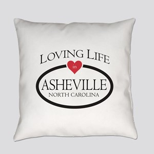 Loving Life in Asheville, NC Everyday Pillow