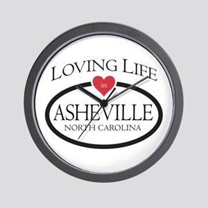 Loving Life In Asheville, Nc Wall Clock