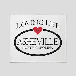 Loving Life in Asheville, NC Throw Blanket