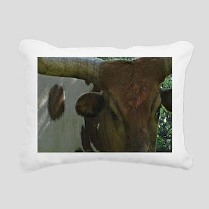 Texas Long Horn Bull Rectangular Canvas Pillow