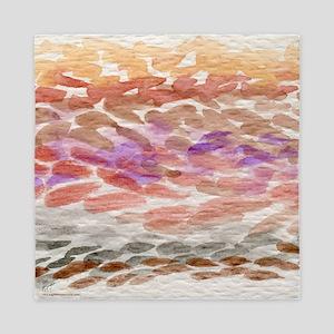 watercolor desert Queen Duvet