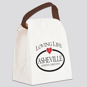 Loving Life in Asheville, NC Canvas Lunch Bag