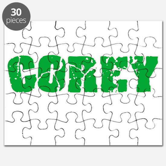Corey Name Weathered Green Design Puzzle