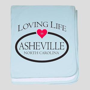 Loving Life in Asheville, NC baby blanket