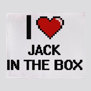 I Love Jack In The Box Throw Blanket