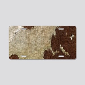 Cow Hide Aluminum License Plate