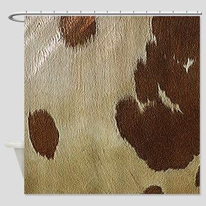 Cow Hide Shower Curtain