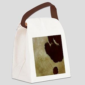 antique cow hide Canvas Lunch Bag