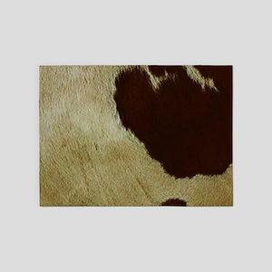 antique cow hide 5'x7'Area Rug