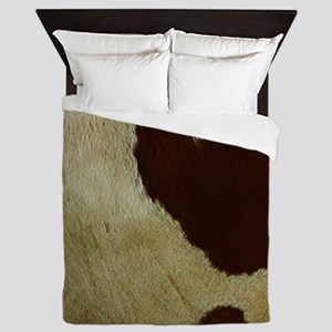 antique cow hide Queen Duvet