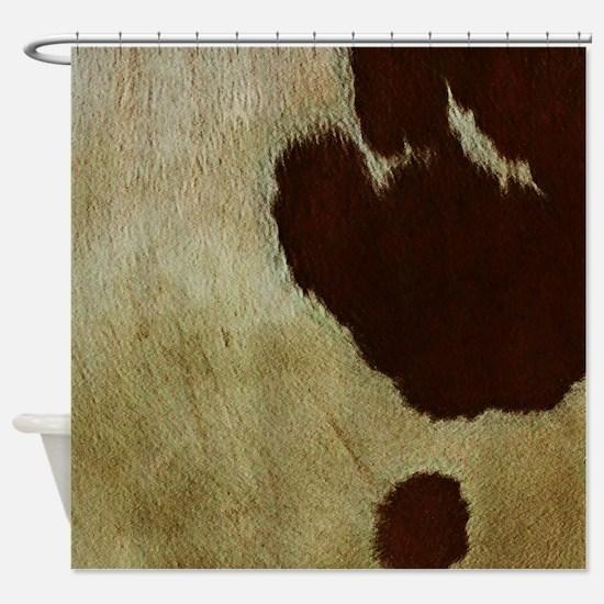 antique cow hide Shower Curtain