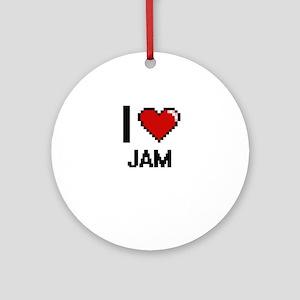 I Love Jam Ornament (Round)