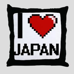I Love Japan Throw Pillow