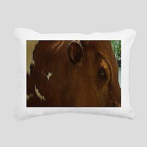 Western Bull Rectangular Canvas Pillow
