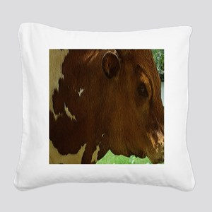 Western Bull Square Canvas Pillow