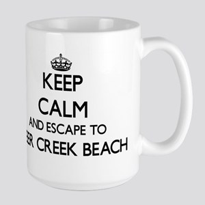 Keep calm and escape to Deer Creek Beach Cali Mugs