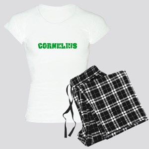 Cornelius Name Weathered Green Design Pajamas