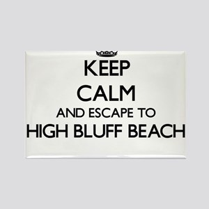 Keep calm and escape to High Bluff Beach C Magnets