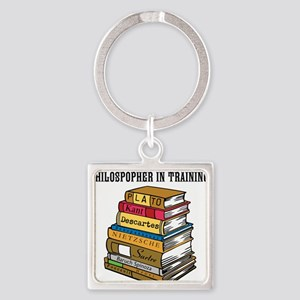 Philosopher in Training Square Keychain
