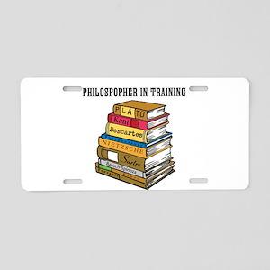 Philosopher in Training Aluminum License Plate
