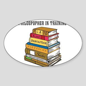 Philosopher in Training Sticker (Oval)