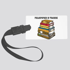 Philosopher in Training Large Luggage Tag