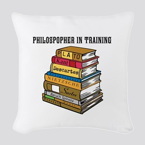 Philosopher in Training Woven Throw Pillow