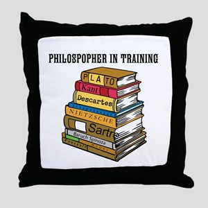 Philosopher in Training Throw Pillow