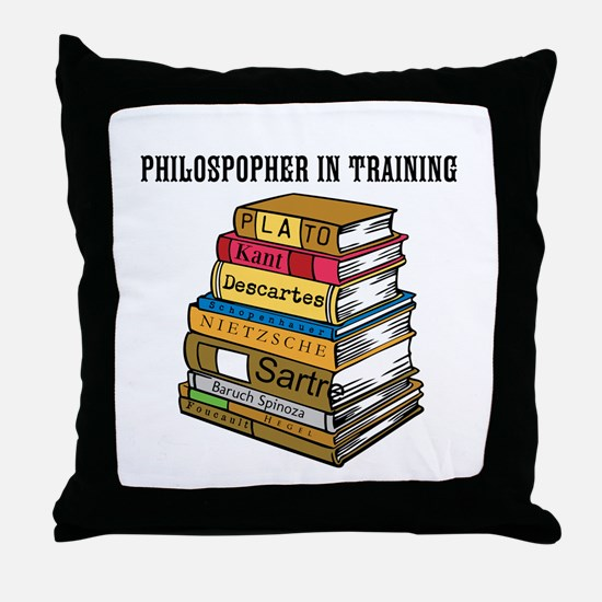 Philosopher in Training Throw Pillow