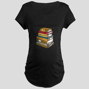 Philosopher in Training Maternity Dark T-Shirt