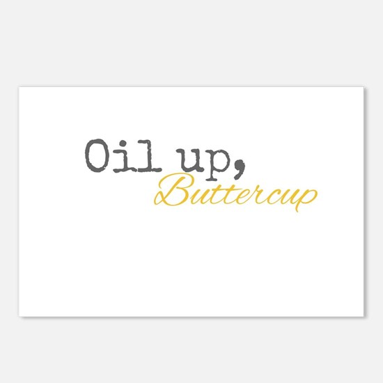Oil Up Buttercup Postcards (Package of 8)