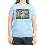 Lilies (2) & Maltese Women's Light T-Shirt