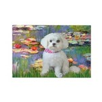 Lilies (2) & Maltese Rectangle Magnet (10 pack)