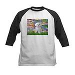 Lilies (2) & Maltese Kids Baseball Jersey
