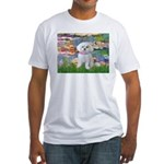 Lilies (2) & Maltese Fitted T-Shirt