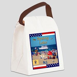 Spring Lake NJ Canvas Lunch Bag