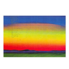 50.davis sunset.. Postcards (Package of 8)