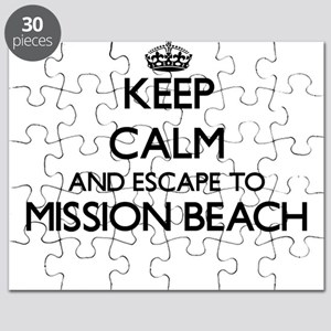 Keep calm and escape to Mission Beach Calif Puzzle