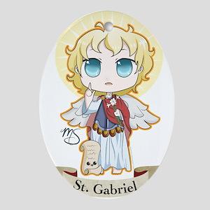 St. Gabriel Ornament (Oval)