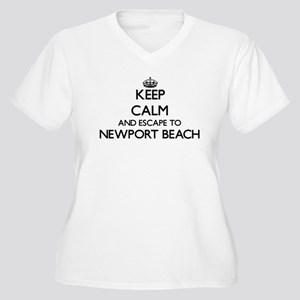 Keep calm and escape to Newport Plus Size T-Shirt