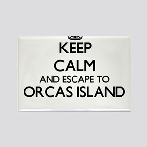 Keep calm and escape to Orcas Island Washi Magnets